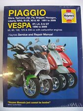 New Vespa Haynes Et2 Et4 Lx Lxv S Gt Gtv Gts Workshop Manual Spares Repair Book