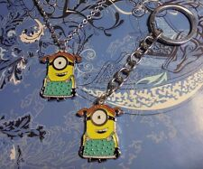 Large Minions Charm Silver Chain Necklace & Key Chain**~Free Ship
