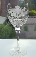 Thistle Design 14oz Crystal Goblet         8 1/4 inches Tall (Quality)