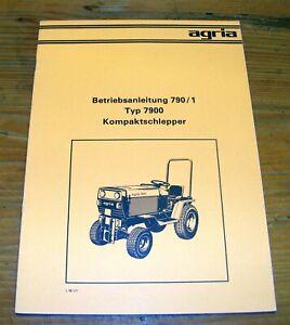 Agria 7900 Kleinschlepper Schlepper Anleitung BA Betriebsanleitung Bedienung