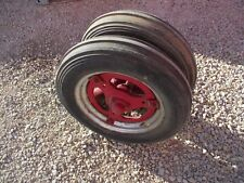 Farmall Ih B Bn Tractor Complete Early Buckle Style Pedestal Hubs Rims Tires