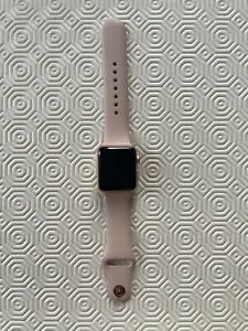 Apple Watch Series 3 38mm Gold Aluminium Case with Pink Sport Band (GPS + Cell)