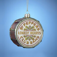 KURT S ADLER BEATLES™ SGT PEPPERS HANDCRAFTED DRUM HEAD GLASS CHRISTMAS ORNAMENT