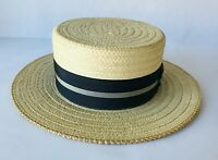 Wembley New York Vintage Men's Straw Hat Barber Shop Theater Costume Small
