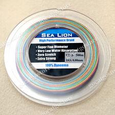 NEW Sea Lion 100% Dyneema Spectra Braid Fishing Line  500M 12LB Multi Color