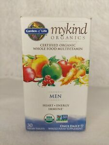 Garden Of Life Mykind Organics Men Daily Multivitamin Heart Energy 30 Tablets
