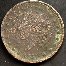 USA Hard Times Token 1837 Kupfer Not One Cent For Tribute 3653