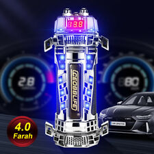4.0 Farad Car Audio Capacitor Super Power Subwoofer Led Voltage Display 4F Bass