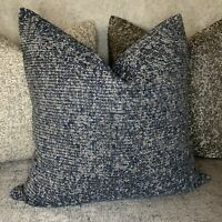 """Cushion Cover """"AVA"""" JOHN LEWIS Durable Fabric 18"""" Navy Indigo & Garden Decor"""