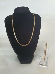 Pierre Cardin Gold Plated Herringbone Necklace And Bracelet Set