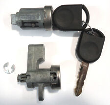 Ford Ignition Switch Lock Cylinder + Door Lock Cylinder W/2 Chipped Keys
