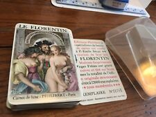 1955 Philibert Erotic Le Florentin Playing Cards Paris  Becat Paintings in case