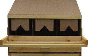 Legenest aus Holz mit 3 Legebuchten OBERTEI-für kleine bis mittelgroße Nr.41181