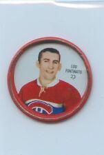 62-63 SHIRRIFF HOCKEY COIN #23 LOU FONTINATO CANADIENS