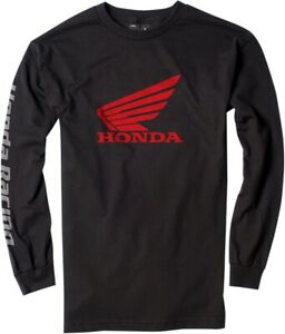 Factory Effex Men's Honda Racing T Shirt Black Long Sleeve Shirt Motorcycle