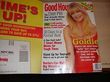GOOD HOUSEKEEPING MAGAZINE BACK ISSUE APRIL 2001 GOLDIE HAWN COVER