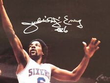 JULIUS ERVING SIGNED NBA BASKETBALL SIXERS 8X10 PHOTO PICTURE AWESOME!