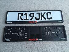 Audi S-Line Number Plate Surrounds x2 Quattro Rs Turbo A6 A7 Dealer Style Garage