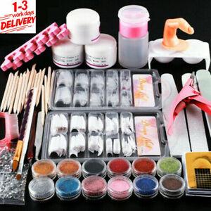 Manicure Kit Nail Tips False Nails Acrylic Powder Liquid Nail Art Starter Set