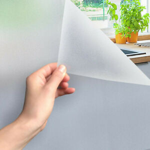 300x60 cm Frosted Privacy Glass Cling Window Film Protector Sticker Home Office