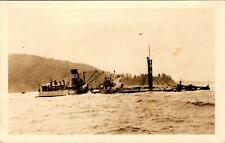 HUMBOLDT COUNTY CALIFORNIA CAPSIZED LOGGING SHIP OLD REAL PHOTO POSTCARD