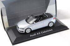 1:43 Minichamps Audi A3 Cabriolet Eis silver DEALER NEW bei PREMIUM-MODELCARS