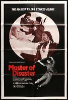 MASTER OF DISASTER  Grindhouse Kung Fu ORIGINAL 1981 1SHEET MOVIE POSTER 27 x 41
