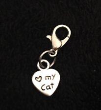 Cat Paw Bracelet Charm Clip Purse Zip Pussy Puss Love Heart My Lover Pet Print