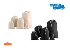 100% Cotton Drawstring Laundry Bag Plain reusable Bags Storage Washing Gym Stash