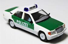 H0 BREKINA Starmada Mercedes Benz 190 E POLIZEI Blaulicht Top - Modell # 13207