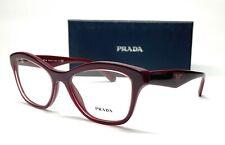 PRADA VPR 29R UAN-1O1 Burgundy Demo Lens Women's Eyeglasses 54mm