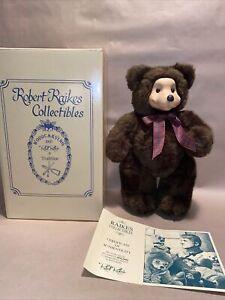 Robert Raikes Collectibles Bear Brownie 521/1000 COA Box