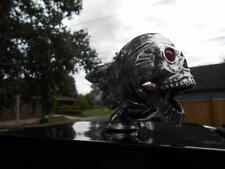 QTY 2 FLYING SKULL FENDER/HOOD-ORNAMENT VINTAGE HOT-RAT-ROD TRUCK/SEMI HARLEY