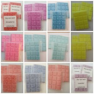 Handmade highly scented soy wax melts 50g bar free p&p, new fragrances added