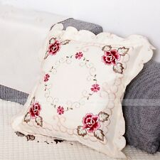Yazi Embroidery Satin Tablecloth BEDSTAND Doily Table Cloth Runner Cover Gift 45x45cm Pillowcase