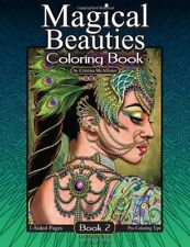 Magical Beauties Volume 2 Adult Colouring Book Ladies Women Fantasy Greyscale
