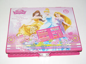 Malette Coloriage x51 Crayons & Accessoires Colouring Caisse Disney Princess