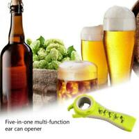 5-in-One-Flaschenöffner Jar Can Kitchen Manual Opener Gadget Tool E7W7