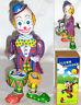 MS363 Clown Drummer Retro Clockwork Wind Up Tin Toy w/Box