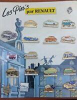 Collection 19  Pin's Renault /voiture vintage Renault /carton publicitaire .