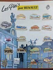 Collection 19 Pin's Renault/Car Vintage Renault/Carton Advertising