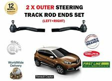 FOR RENAULT CAPTUR 0.9 1.2 1.5 DCI 2013-> NEW 2 X OUTER STEERING TRACK ROD ENDS