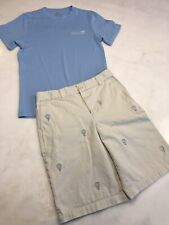 Vineyard Vines Boys Shorts and T-Shirt size 14 Lot of 2 Lacrosse (X10)