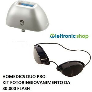 HOMEDICS DUO PRO KIT FOTORINGIOVANIMENTO + OCCHIALINI VISO COD.IPL-HH103-EU