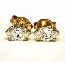 GIA Certified .78ct marquise cut diamond 14k yellow gold SI1-VS2 H-I earrrings