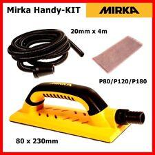 Schleifblock 80x230mm Mirka Kit Handblock + Absaugschlauch + 5x Schleifstreifen