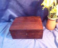 Early 19th Century Georgian Large Wooden Box-Mahogany Veneer/Brass Escutcheon
