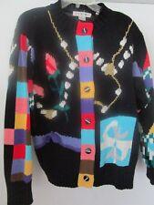 Lisa Nichols Vintage Christmas Sweater Colorful Rare Chappel Hill Ltd Medium