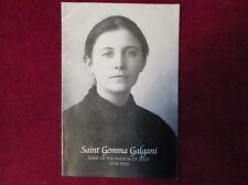 """St.Gemma Galgani Beautiful Prayer Card Stigmatist Passionist Order 4 1/2"""" X 3"""""""