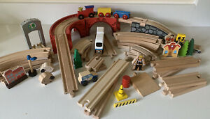 Wooden Train Track Bundle Job Lot Brio ELC BigJigs Thomas Compatible Bridge Set